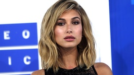 Model Hailey Baldwin arrives at the 2016 MTV Video Music Awards in New York, U.S., August 28, 2016.