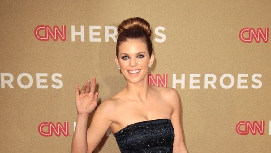 Actress AnnaLynne McCord arrives at the CNN Heroes: An All-Star Tribute event at the Shrine Auditorium in Los Angeles, California December 11, 2011.