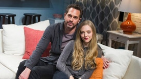 "FILE - In this May 1, 2015, file photo, Thomas Sadoski, left, and Amanda Seyfried pose on the set of Neil LaBute's play ""The Way We Get By"" at the Second Stage Theatre in New York. Sadoski told CBS ""Late Late Show"" host James Corden on March 16, 2017, that he and Seyfried got married on March 12, 2017. (Photo by Charles Sykes/Invision/AP, File)"