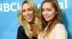"Tish Cyrus, left, and her daughter Brandi, cast members in the Bravo series ""Cyrus vs. Cyrus: Design & Concur,"" pose together at the 2017 NBCUniversal Summer Press Day at the Beverly Hilton on Monday, March 20, 2017, in Beverly Hills, Calif. (Photo by Chris Pizzello/Invision/AP)"