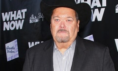 "Wrestling Commentator Jim Ross attends the premiere of ""What Now"" at The Laemmle Music Hall on March 10, 2015 in Beverly Hills, California."