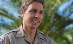"This image released by Warner Bros. Pictures shows Dax Shepard in a scene from, ""CHiPS."" (Peter Iovino/Warner Bros via AP)"
