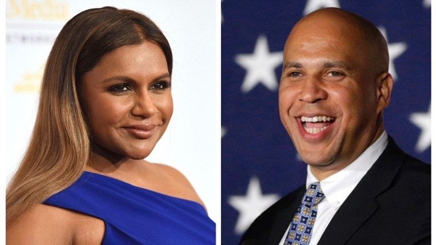Cory Booker has invited Mindy Kaling to dinner after her character made a joke about Newark on 'The Mindy Project'