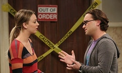"""The Friendship Turbulence"" -- Penny is offered an embarrassing movie role, on THE BIG BANG THEORY, Thursday, March 6 (8:00 – 8:31 PM, ET/PT) on the CBS Television Network. Pictured left to right: Kaley Cuoco-Sweeting and Johnny Galecki Photo: Michael Yarish/Warner Bros. Entertainment Inc. © 2014 WBEI. All rights reserved."