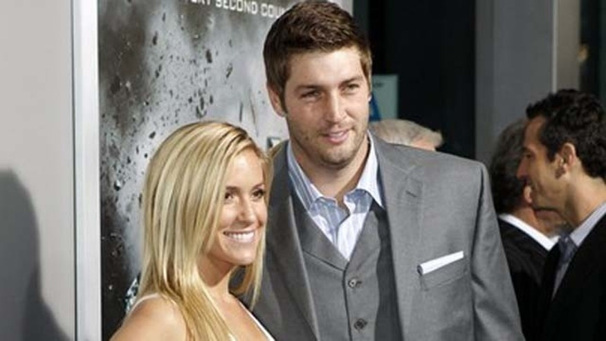 This 2012 photo shows reality star Kristin Cavallari and her now-husband, NFL quarterback Jay Cutler