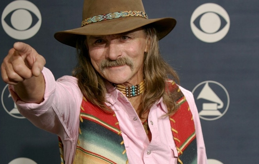 Dickey Betts backstage at the 47th annual Grammy Awards at the Staples Center in Los Angeles February 13, 2005.