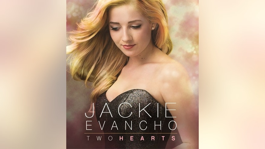 "The album cover of Jackie Evancho's new record ""Two Hearts"" in stores March 31."