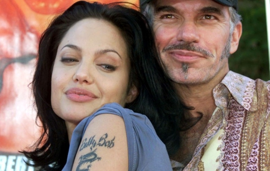 Actress Angelina Jolie, pictured with her then-husband, actor Billy Bob Thornton, on June 5, 2000 at a premiere in Los Angeles.