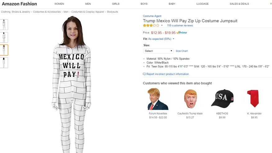 mexico will pay costume amazon