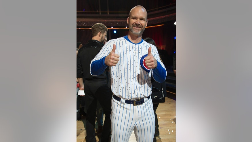 "David Ross during ""Dancing with the Stars."""