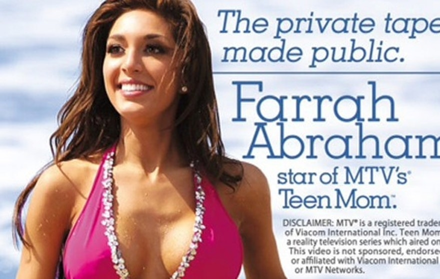 Farrah Abraham's video cover is shown.