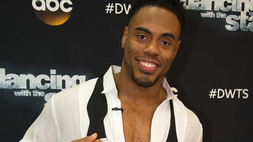 "Rashad Jennings at a taping of ""Dancing with the Stars."""