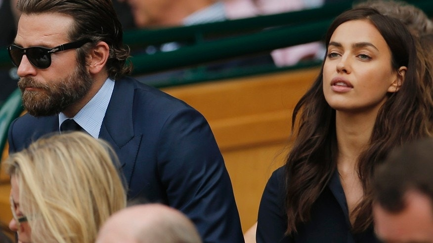 Britain Tennis - Wimbledon - All England Lawn Tennis & Croquet Club, Wimbledon, England - 10/7/16 Actor Bradley Cooper and his girlfriend model Irina Shayk in the royal box on centre court.