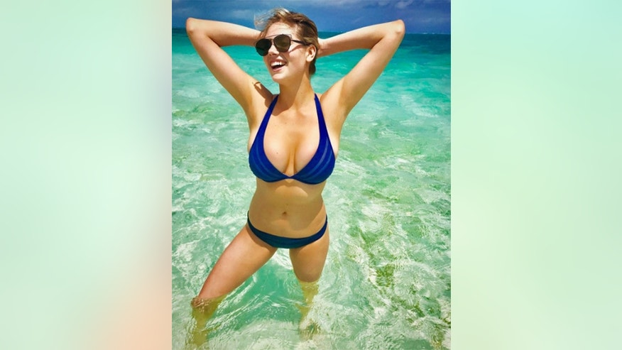 hollywoodlife handout kate upton blue bikini instagram