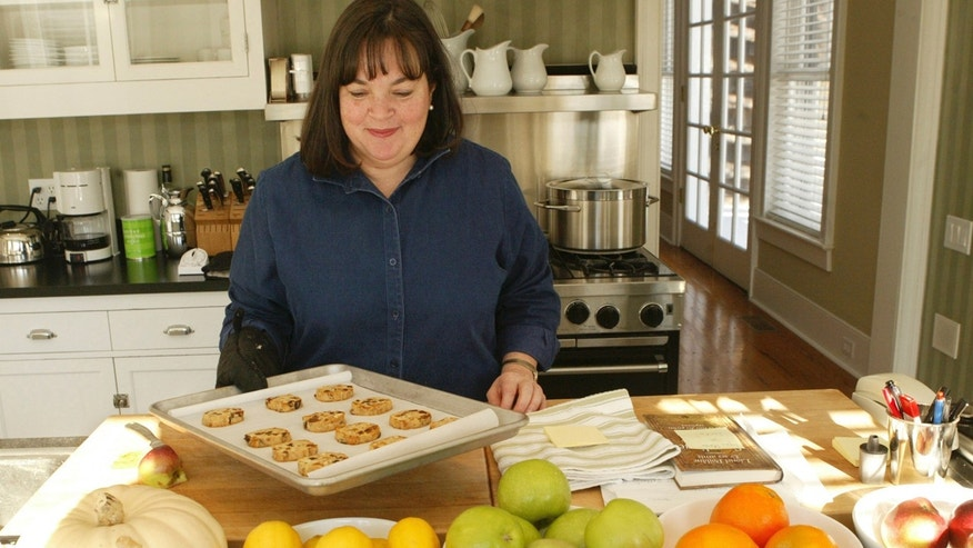 "Ina Garten headshot, celebrity chef, on set of her Food Network show ""Barefoot Contessa."""