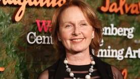 Welsh-American actress Kate Burton, daughter of late actor Richard Burton, arrives at the Wallis Annenberg Center for the Performing Arts Inaugural Gala in Beverly Hills, California October 17, 2013. REUTERS/Fred Prouser (UNITED STATES - Tags: ENTERTAINMENT HEADSHOT) - RTX14FLR