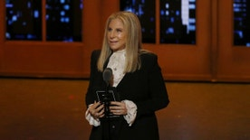 Singer Barbra Streisand speaks on stage during the American Theatre Wing's 70th annual Tony Awards in New York, U.S., June 12, 2016. REUTERS/Lucas Jackson - RTX2FV6Q