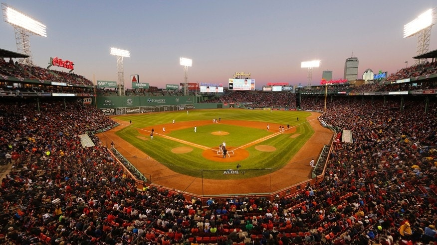 Oct 10, 2016; Boston, MA, USA;  A general view of Fenway Park during the first inning of game three of the 2016 ALDS playoff baseball game between the Boston Red Sox and the Cleveland Indians.
