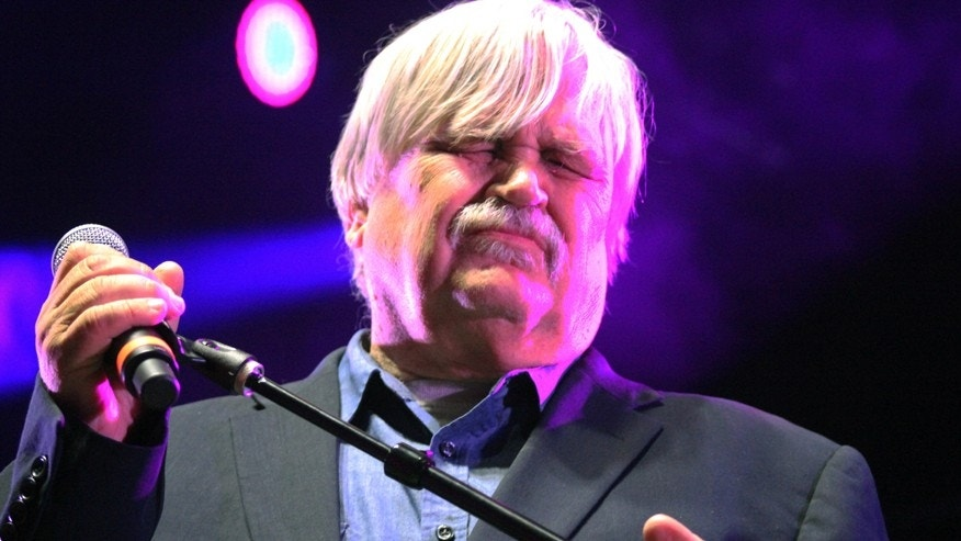 "Col. Bruce Hampton performs at ""Hampton 70,"" his all-star jam celebration of his 70th birthday Monday, May 1, 2017, at the Fox Theatre in Atlanta. Hampton, a musician, died after collapsing on stage at the end of the the star-studded birthday concert in his honor, authorities said."