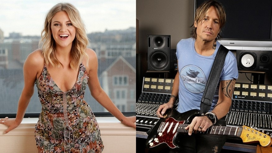 Country singers Kelsea Ballerini (left) and Keith Urban.