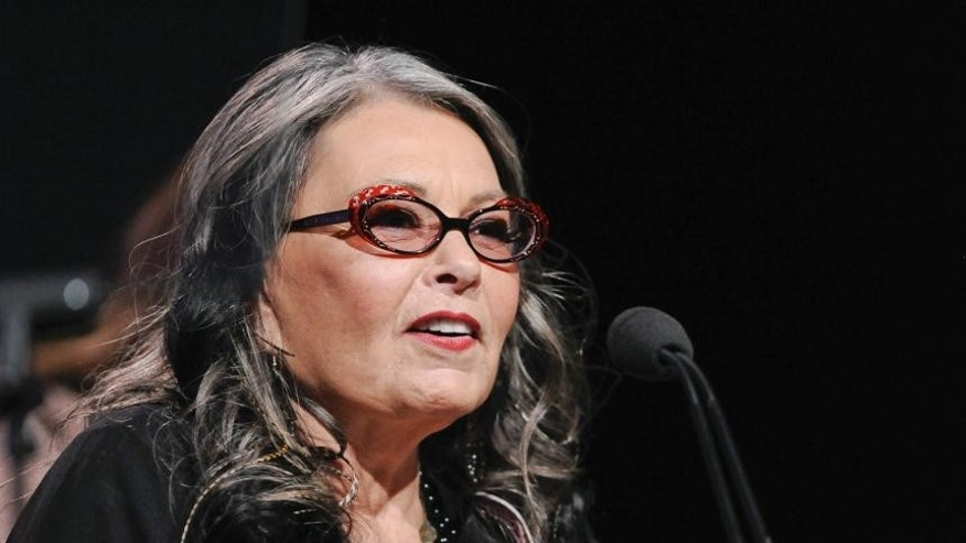 "Roseanne Barr from the television show ""Roseanne's Nuts"" addresses the media during the Lifetime channel portion of the Press Tour for the Television Critics Association in Beverly Hills, California, July 27, 2011."