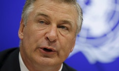 Alec Baldwin speaks at a news conference at United Nations headquarters in New York, September 21, 2015.
