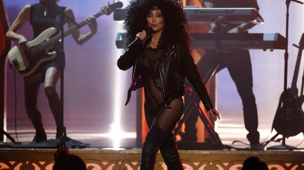 "Cher performs ""If I could Turn Back Time"" at the 2017 Billboard Music Awards in Las Vegas, Nevada, May 21, 2017."