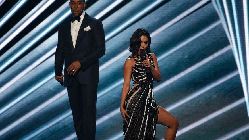 Hosts Ludacris and Vanessa Hudgens at the 2017 Billboard Music Awards in Las Vegas, Nevada on May 21, 2017.