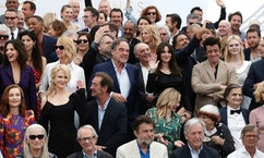 Actors and directors form former Cannes selections pose for photographers during the photo call for the 70th Anniversary of the international film festival, Cannes, southern France, Tuesday, May 23, 2017.