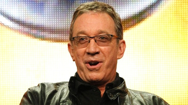 """Cast member Tim Allen answers a question during the ABC session for """"Last Man Standing"""" during the 2011 Summer Television Critics Association Cable Press Tour in Beverly Hills, California August 8, 2011. REUTERS/Mario Anzuoni (UNITED STATES - Tags: ENTERTAINMENT) - RTR2PQD6"""