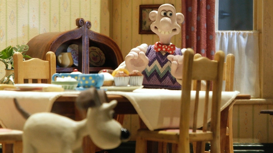 "A display of a scene from a Wallace and Gromit film, at the media launch of the ""Wallace & Gromit Present A World of Cracking Ideas"" exhibition at the Science Museum in London March 26, 2009."