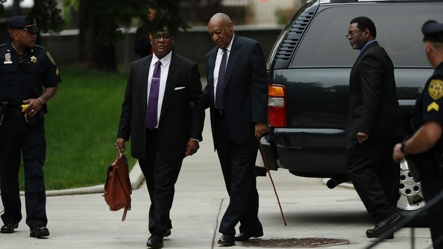 Bill Cosby arrives for his sexual assault trial at the Montgomery County Courthouse, Tuesday, June 6, 2017 in Norristown, Pa.