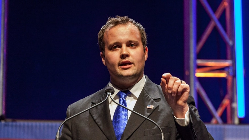 August 9, 2014. Josh Duggar, Executive Director of the Family Research Council Action, speaks at the Family Leadership Summit in Ames, Iowa.