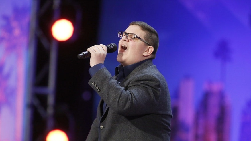 "Christian Guardino performs on ""America's Got Talent,"" shocking the judges and crowd alike."