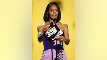 Jada Pinkett Smith presents the award for female video of the year at the CMT Music Awards at Music City Center on Wednesday, June 7, 2017, in Nashville, Tenn. (Photo by Wade Payne/Invision/AP)