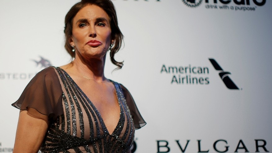 Caitlyn Jenner poses for photographers at the 2017 Elton John AIDS Foundation Academy Awards Viewing Party in Los Angeles, California, U.S., February 26, 2017.