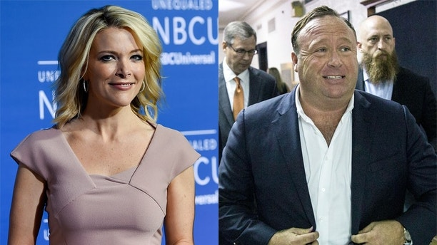 Megyn Kelly and Alex Jones AP