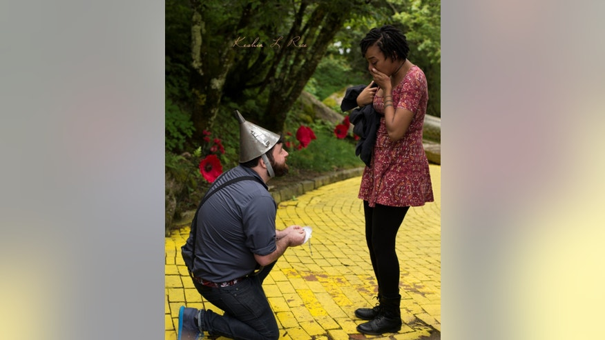 "A ""Wizard of Oz""-inspired marriage proposal was captured on camera last week."