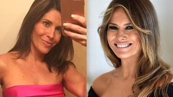 Claudia Sierra (left), before her plastic surgery, underwent eight procedures to look like First Lady Melania Trump (right).