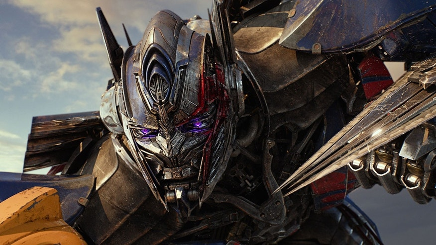 "This image released by Paramount Pictures shows Optimus Prime in a scene from, ""Transformers: The Last Knight."""