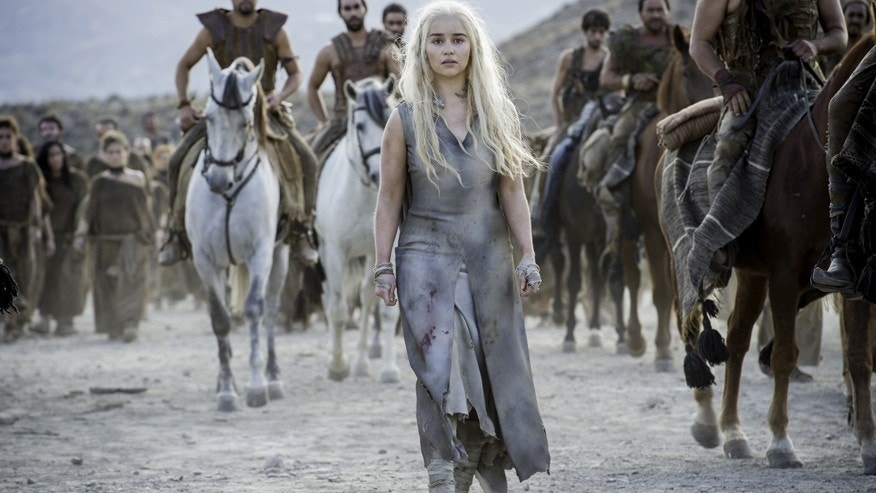 "Emilia Clarke as Daenerys Targaryen on HBO's ""Game of Thrones."""