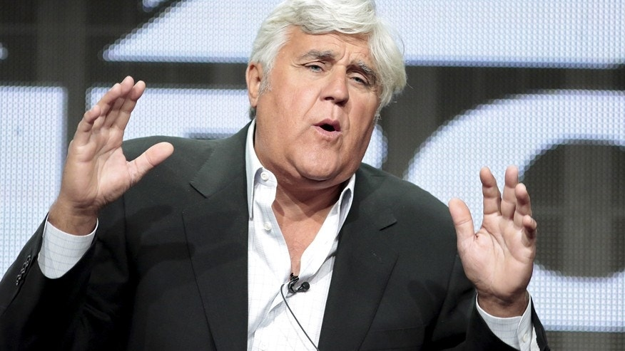 "Television personality Jay Leno participates in the NBCUniversal ""Jay Leno's Garage"" panel at the Television Critics Association (TCA) Summer 2015 Press Tour in Beverly Hills, California August 13, 2015."