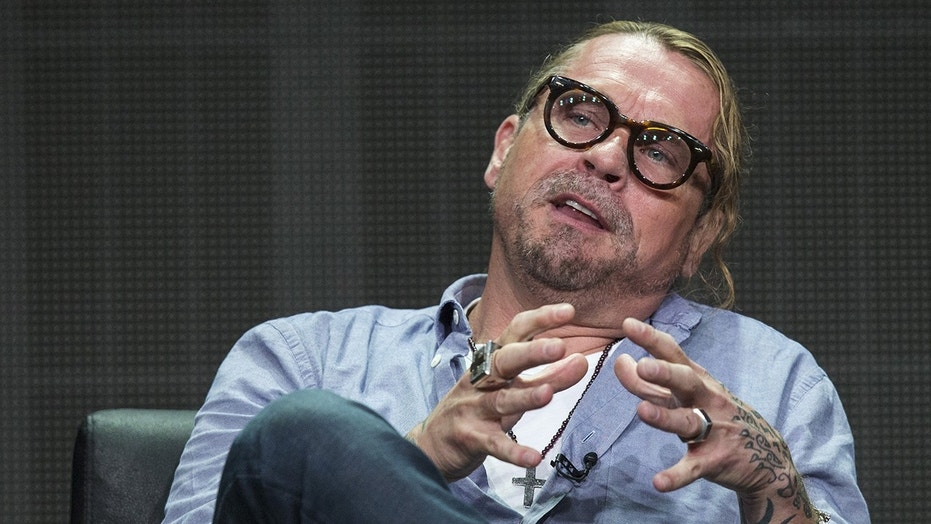 "Creator and executive producer Kurt Sutter speaks at a panel for the FX Networks television series ""The Bastard Executioner"" during the Television Critics Association Cable Summer Press Tour in Beverly Hills, California August 7, 2015."