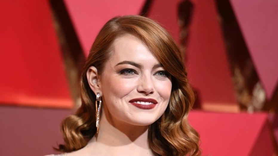 Emma Stone says that male co-stars have taken pay cuts to ensure she received equal pay on films.