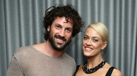 MIAMI BEACH, FL - DECEMBER 02:  (L-R) Maksim Chmerkovskiy and Peta Murgatroyd attend the Samsung celebration for Alec Monopoly's LEVEL Headphones Collaboration at Soho Beach House on December 2, 2015 in Miami Beach, Florida.  (Photo by Astrid Stawiarz/Getty Images for Samsung)