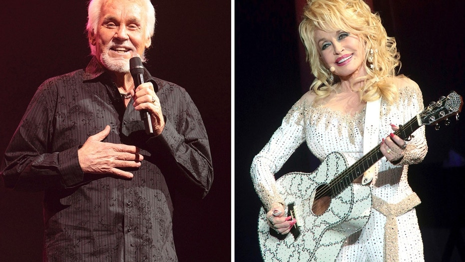"In this combination photo, Kenny Rogers, left, performs on March 7, 2013, in Lancaster, Pa. and Dolly Parton performs in Philadelphia on June 15, 2016. The pair, who spawned hit duets like ""Islands in the Stream"" and ""Real Love,"" announced they will be making their final performance together this year."