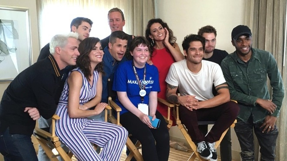 "Sydney Lang met with cast members from ""Teen Wolf"" during a meet-and-greet organized by the Make-A-Wish Foundation at Comic-Con International."