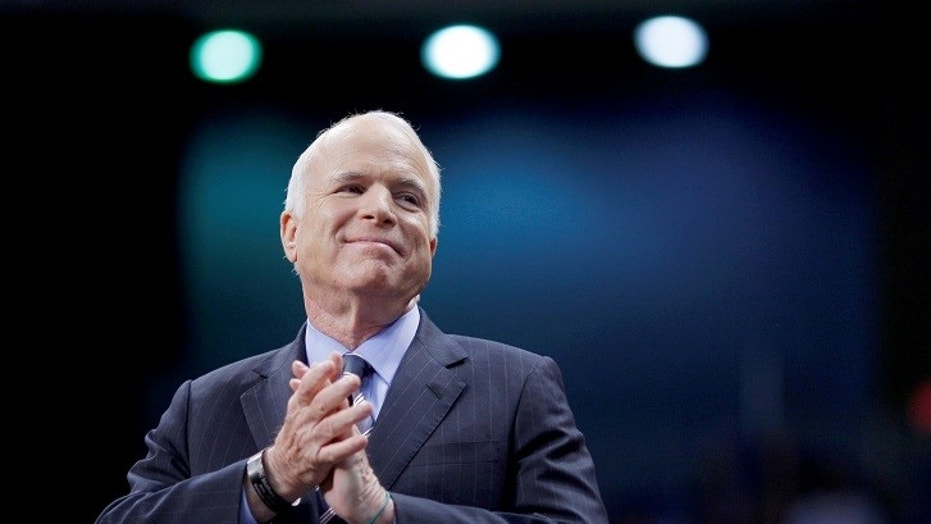 "Celebrities react to Sen. John McCain R-Ariz. voting ""no"" Friday morning to the skinny repeal"" amendment of Obamacare."