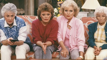 "Pictured: (l-r)  Bea Arthur as Dorothy Petrillo-Zbornak, Rue McClanahan as Blanche Devereaux, Betty White as Rose Nylund, Estelle Getty as Sophia Petrillo on ""The Golden Girls."""