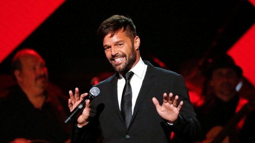 Recording artist Ricky Martin speaks during the Latin Recording Academy Person of the Year award gala honoring Marc Anthony in Las Vegas, Nevada U.S., November 16, 2016.   REUTERS/Mario Anzuoni - RTX2U29T